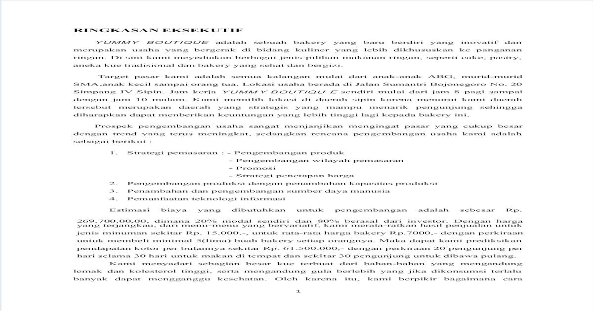 Proposal Bisnis (Kelompok 2) - PDF Document
